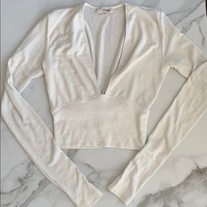 Aritzia Wilfred Free White Top